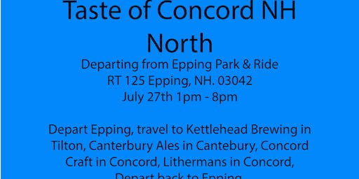 Beer Tour - Concord NH North, Kettlehead, Canterbury Ales,Concord Craft