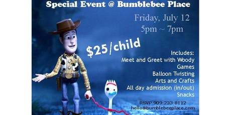 Toy Story Meet and Greet Fun Event with Woody tickets