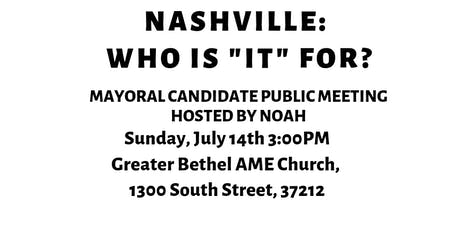 "Nashville: Who is ""It"" For? tickets"