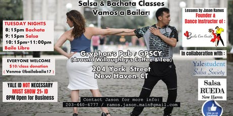 New Haven Salsa and Bachata Dance Classes - Clases de Baile tickets