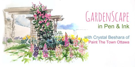 Gardenscapes in Pen & Ink with Crystal Beshara tickets