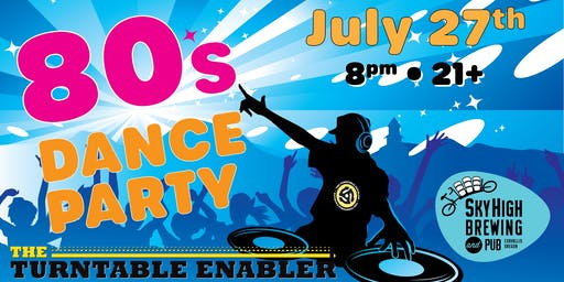 80's Dance Party on the Rooftop!