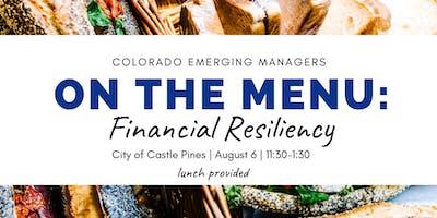 On the Menu: Financial Resiliency