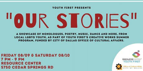 "Youth First presents ""Our Stories"" tickets"