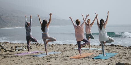 Malibu Yoga on the beach// 4th of july tickets