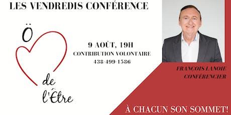 Conférence: À chacun son Sommet! tickets
