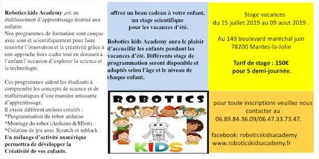 Atelier vacances découverte robotique billets