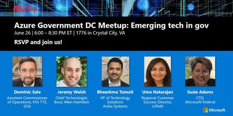 Azure Gov DC Meetup: Emerging tech in government tickets