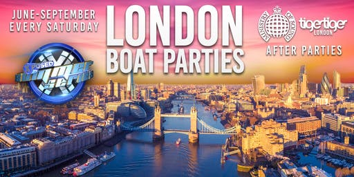 London Boat Party with FREE Ministry Of Sound After Party!