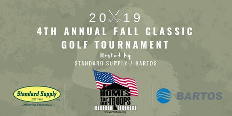 2019 Standard Supply / Bartos Homes for our Troops Golf Tournament tickets