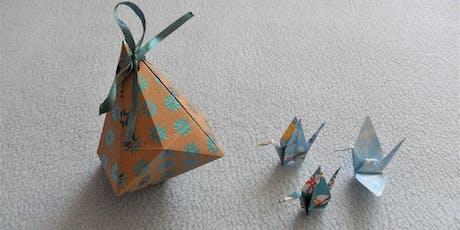 Fabrication d'origamis et objets en papier billets