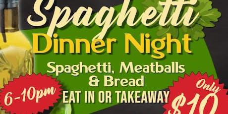 Spaghetti Dinner Fundraiser tickets