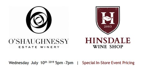 O'Shaughnessy Wine Experience - Wine Tasting in Hinsdale tickets