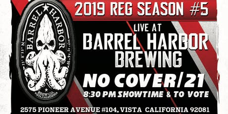 SD Comedy League 2019: s5: Barrel Harbor Brewing: 8/2/19 tickets