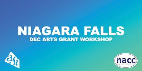 DEC Arts Grant Workshop (Niagara Falls) tickets