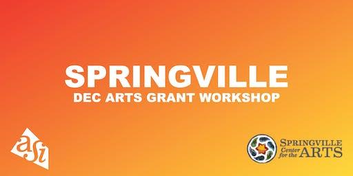 DEC Arts Grant Workshop (Springville)