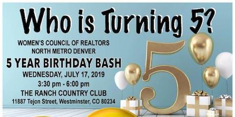 5 Year Birthday Bash tickets
