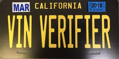 Corona DMV VIN Verification Training