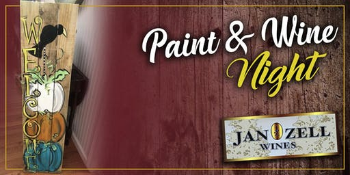 Jan Zell Wines Paint Event Welcome Signs