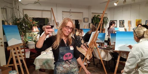 Fridays Wine and Paint Night - Toronto, Danforth