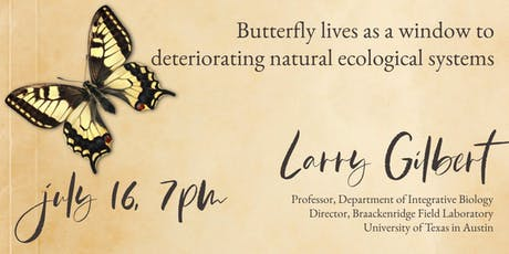 Butterfly Lives as a Window to Deteriorating Natural Ecological Systems tickets
