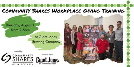 2019 Community Shares of Wisconsin Workplace Giving Training tickets