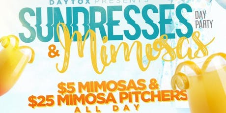 7.13 | DAYTOX PRESENTS [SUNDRESSES & MIMOSAS] BRUNCH + DAY PARTY @ THE ADDRESS | $5 FLAVORED MIMOSAS 12-7P | FOOD & DRINKS HAPPY HOUR 3-8P | FULL KITCHEN | 3 DJS & MC | HOOKAH | FREE ENTRY EVENT ALL DAY & NIGHT!! tickets