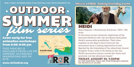 R2R Outdoor Summer Film Series: Heidi tickets