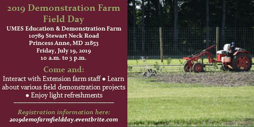 2019 Demonstration Farm Field Day