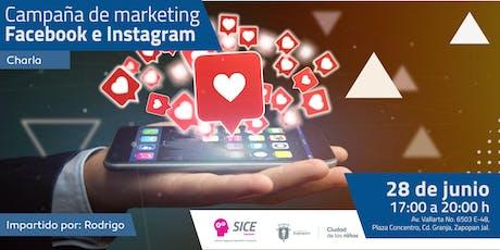Campañas de marketing Facebook e Instagram  entradas