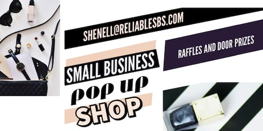 Small Business POP UP SHOP!! Raffles and giveaways!!