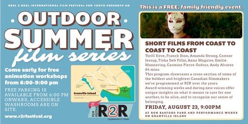 R2R Outdoor Summer Film Series: Short Films from Coast to Coast to Coast
