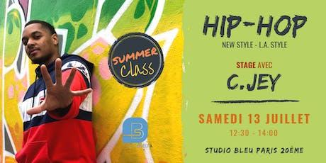 STAGE HIP-HOP SUMMER CLASS C.Jey billets