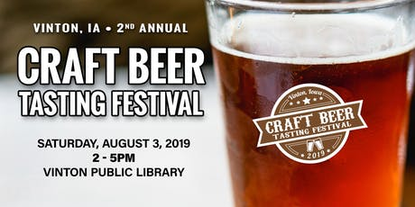 Vinton, Iowa  Craft Beer Tasting Festival 2019 tickets