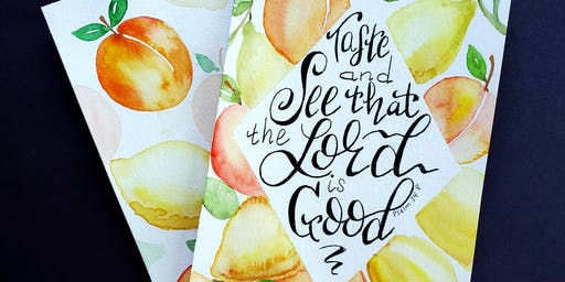 Watercolor Peaches and Lemons