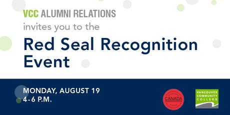VCC's Red Seal Recognition Event tickets