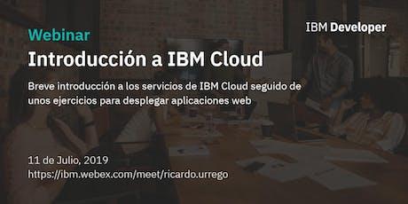 Hands On - INTRODUCCIÓN A IBM CLOUD entradas