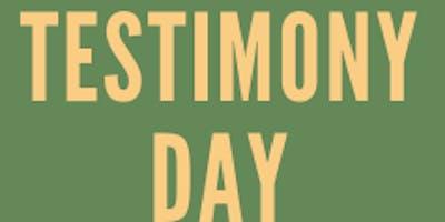 Testimony Day