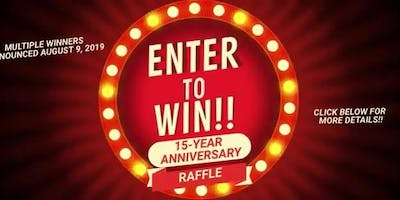 15-Anniversary Celebration & Raffle!