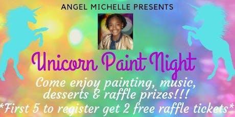 Rainbow Unicorn Paint Night tickets