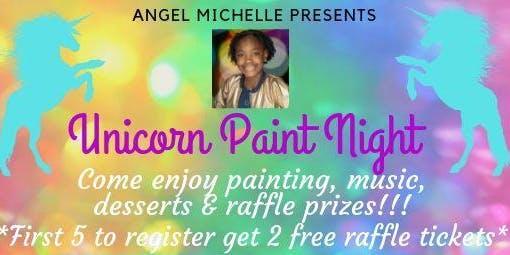 Rainbow Unicorn Paint Night
