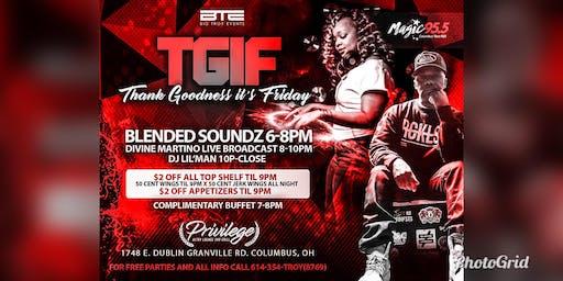 #TGIF: LIVE BAND, 2 DJ'S, STIFF DRINKS & $.50 WINGS ALL NIGHT @ PRIVILEGE!