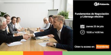 Fundamentos de negociación y liderazgo efectivo entradas