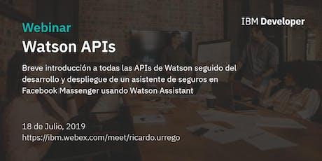 Hands On - WATSON APIS entradas