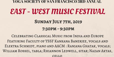 3RD ANNUAL EAST - WEST MUSIC FESTIVAL  tickets