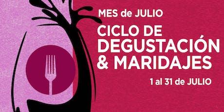 Cata de vinos Bodega las Arcas de Tolombón  - Ciclo de Degustación & Maridajes entradas