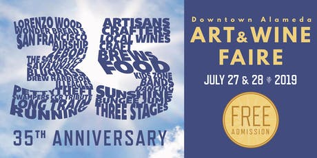 35th Anniversary Downtown Alameda Art & Wine Faire tickets