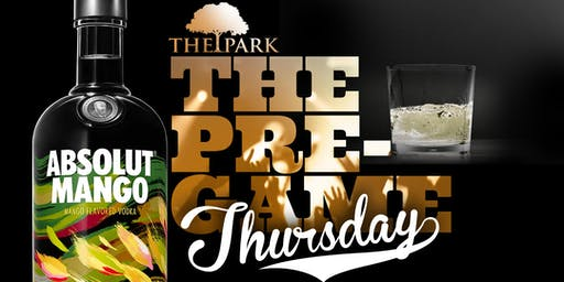 The Pre-Game at The Park Thursday!