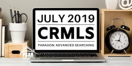 CRMLS: Paragon Advanced Searching - PSAR SOUTH COUNTY tickets