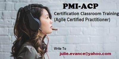 PMI Agile Certified Practitioner (PMI- ACP) 3 Days Classroom in Fair Oaks, CA